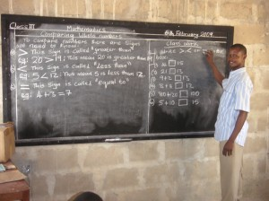 School teacher Black board